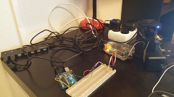 Webcam con Raspberry y Arduino
