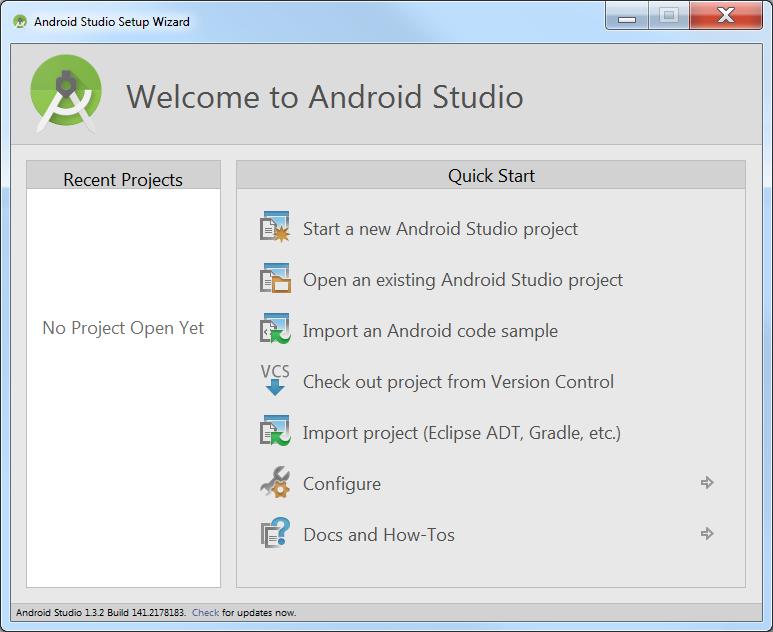 Bienvenida Android Studio
