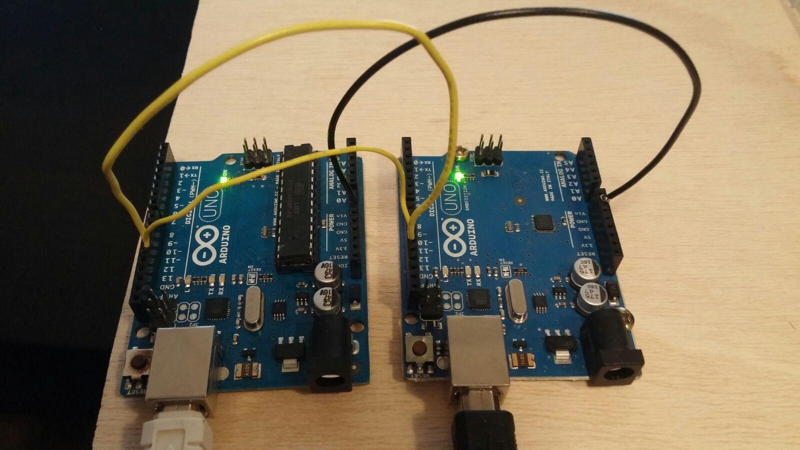 Cómo comunicar dos placas arduino diegorys