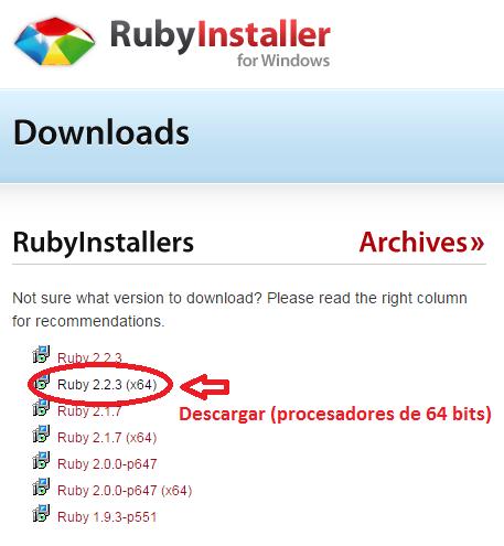 Ruby Installer