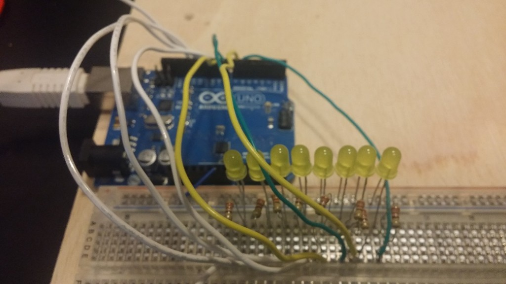 Arduino ocho leds