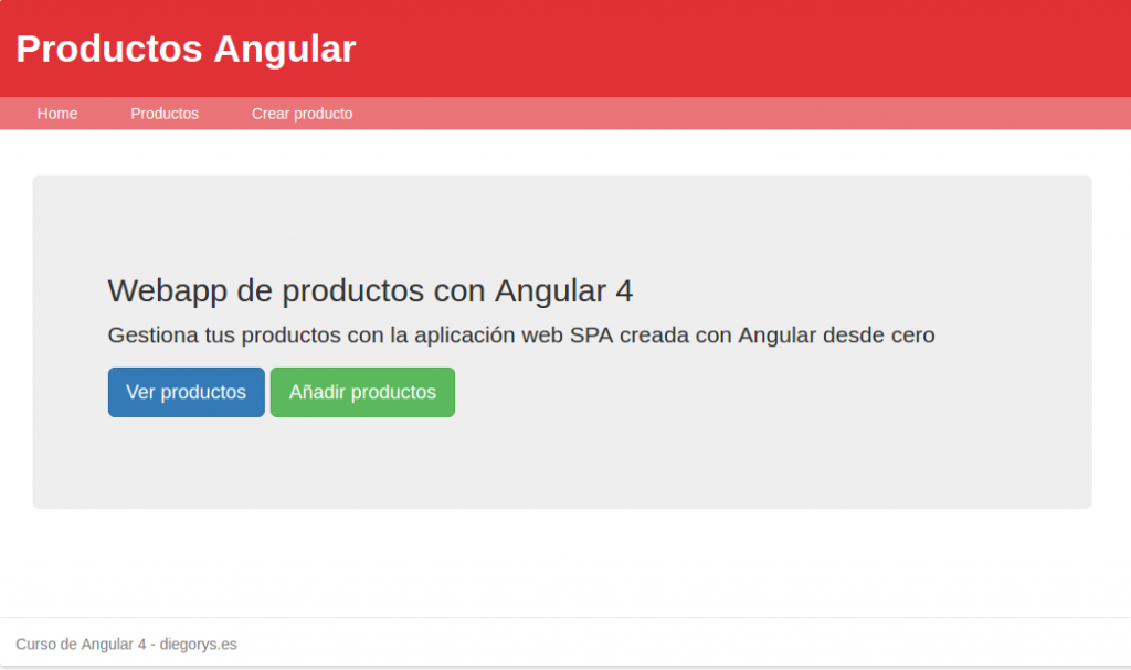 Productos Angular